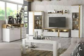 details zu wohnwand wohnzimmer set tuluza vitrine lowboard sideboard couchtisch hängeregal