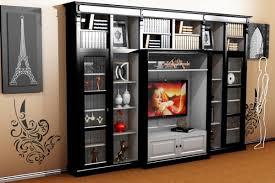 casa padrino luxus wohnzimmer schrankwand schwarz weiß b 372 x h 255 cm bücherregal regal schrank fernseh tv deco jugendstil hotel möbel