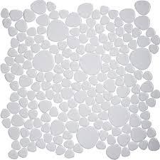 white porcelain tile backsplash pebble mosaic ceramic tile aty1103
