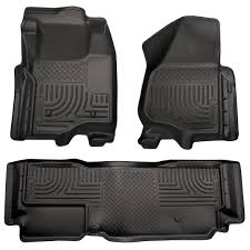 100 Ford Truck Mats Husky Liners Floor WeatherBeater 98721 Black Fits FORD 2011