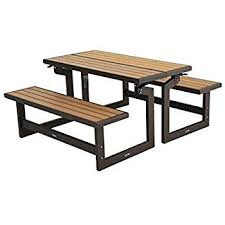 amazon com lifetime 60054 convertible bench table faux wood