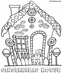 Download Coloring Pages Gingerbread House Page To