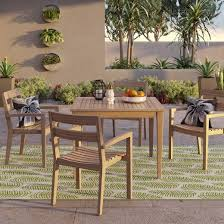 Target Threshold Dining Room Chairs by James 5pc Rectangle Wood Patio Dining Set Brown Threshold