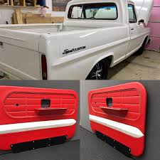 Ford Sport Custom Truck Awesome Red Black And White Door Panels ... 1963 Chevrolet Ck C10 Pro Street Truck Door Panel Photos Gtcarlotcom News Interior Panels Architecture Modern Idea Custom Dodge Ram Speakers Dash Cover For 1998 Pickup Ricks Upholstery Cctp130504o1956chevrolettruckcustomdoorpanels Hot Rod Network Perfection These Door Panels Came Out Great Tre5customs Square 1955 Ford F100 Custom Yahoo Search Results Upholstery And Auto Restoration New Pics Ford Enthusiasts Forums Cheap Easy Custom Door Panel Build Building The Speaker Pod