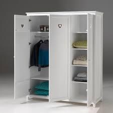 armoire chambre armoire de chambre finition laqué blanc h190cm 3 portes