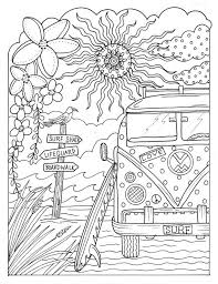 Coloring Book Escape Relax And Take A Vacation In Your Mind Color Adult Fun