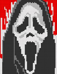Halloween Perler Bead Projects by Scream Ghostface Pixel Pattern By Qwazy2 Perler Beads Skulls