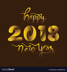 Happy new year 2018 design Royalty Free Vector Image