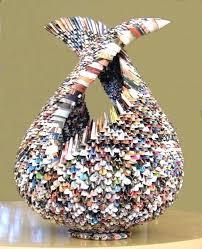 Paper Craft Magazines Rolled Magazine Art Up Tutorial