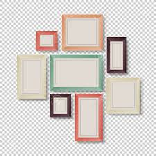 Group Of Frames On Transparent Background In Hipster Colors Stock Vector