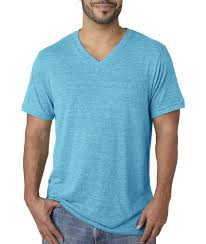 amazon com canvas men u0027s triblend v neck t shirt 3415 sports
