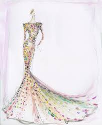 Image Of Sequin Trumpet Gown