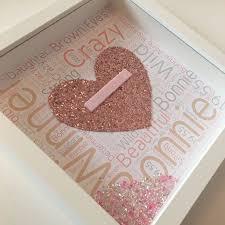 Personalised Wordart Glitter Frame For The Home Box
