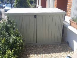 Keter Woodland High Storage Shed by Secure 3 Bike Storage Shed Perfect For Front Garden Our Bike