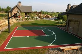 Back Yard Recreation Areas Can Include Sport Courts For Years Of ... 6 Reasons To Install A Backyard Basketball Court Synlawn Yard Voeyball Dimension 2017 2018 Car Review Best Outdoor Dimeions Fniture Design Plans Wiring View Systems And Gallery Cba Sports Half Picture On Cool Spalding Arena Hoop Sport Experienced Courtbuilders Indoor Athletic Flooring Cstruction In Portable Goals