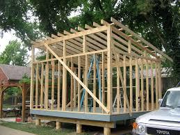 garage slant roof building a slant roof shed plans