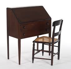 Drop Front Secretary Desk by A Ladies U0027 Slant Front Writing Desk With Chair Ca 1900 U0027s 12 11