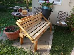 Wood Lawn Bench Plans by 107 Best Pallet Benches Images On Pinterest Pallet Furniture