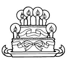 Happy Birthday Cake Was Gifted By Friends With Candles Coloring Pages