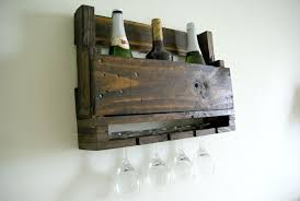 DIY Wall Mounted Wine Racks Made Of Pallets