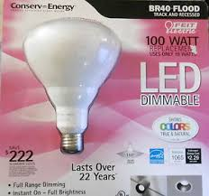 feit electric led dimmable br40 flood energy efficient light bulb