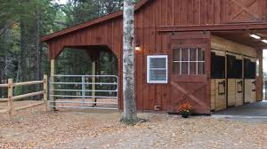 Shed Row Barns Plans by Coastal Maine Horse Barn Youtube