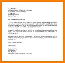 9 appeal letter for financial aid example