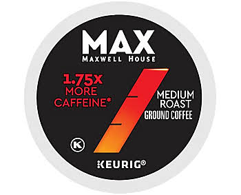 18 ct Maxwell House Max Boost 1.75x Coffee K-Cup Pods. Coffee