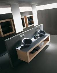 Trough Bathroom Sink With Two Faucets Canada by Modern Vessel Sinks Vanity Design Alongside Solid Square Floating