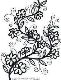 Free Printable Small Flower Coloring Pages The Ideas Mandala Adult Pdf For Preschool Full Size
