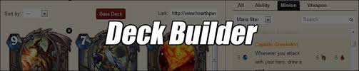 Hearthstone Deck Builder Tool by Hearthpwn Hearthstone Database Tools And News Mmo Champion
