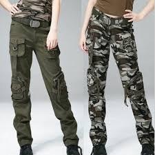 printemps automne femmes coton droite baggy cargo pantalon