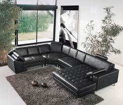 canapé angle en cuir deco in canape d angle panoramique en cuir noir houston