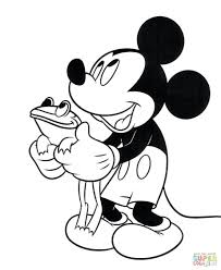 Mickey Mouse And Frog Coloring Games Book Printable Online Free Large Size