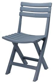 klappstuhl aus stabilem kunststoff blau grau 042050030