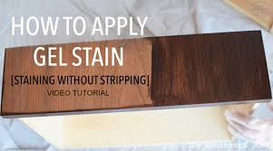 Restaining Wood Floors Without Sanding by Gel Stain Video Tutorial Staining Without Stripping The