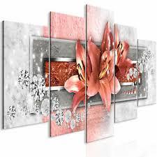leinwand bilder blumen orchidee lilie rot abstrakt