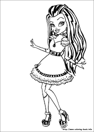 Monster High Christmas Coloring Pages 09