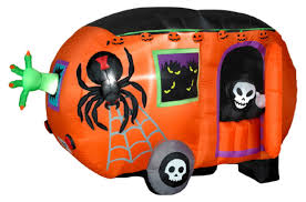 Airblown Inflatable Halloween Yard Decorations by Gemmy Airblown Animated Halloween Camper Inflatable Hayneedle