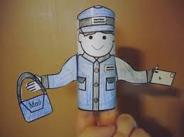 Mail Carrier Toilet Paper Tube Puppets