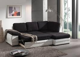 canape angle noir convertible canapé d angle contemporain convertible en tissu coloris noir