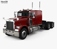Freightliner FLD120 Classic Sleeper Cab Flat Top Tractor Truck 2005 ...