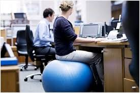 gym ball office chair using stability ball as an office chair