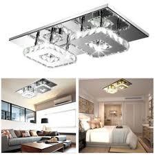 großhandel led deckenleuchte 24w quadratische kristalldeckenleuchte für bar wohnzimmer wohnzimmer led chip licht lshow 26 45 auf