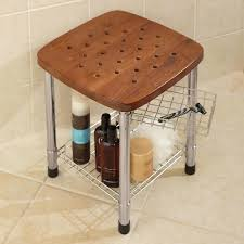 Teak Bathroom Corner Shelves by Teak Bathroom Bench With Storage Broyhill Teak Shower Bench