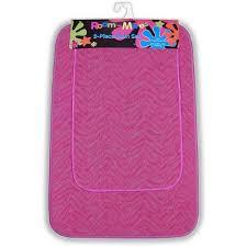 Pink Bathroom Sets Walmart by Zebra 2pc Bath Rug Set Walmart Com