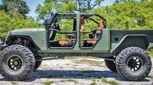 100 6x6 Truck Conversion This 180000 Wrangler Is Peak Jeep Pickup