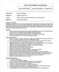 Sample Job Description Project Manager Management Jobs