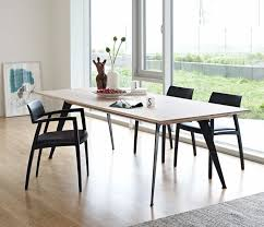 esstisch stühle holz metall beine skandinavischer wohnstil
