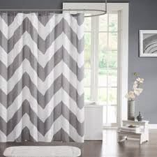 Grey And White Chevron Curtains by Buy Grey Shower Curtain From Bed Bath U0026 Beyond
